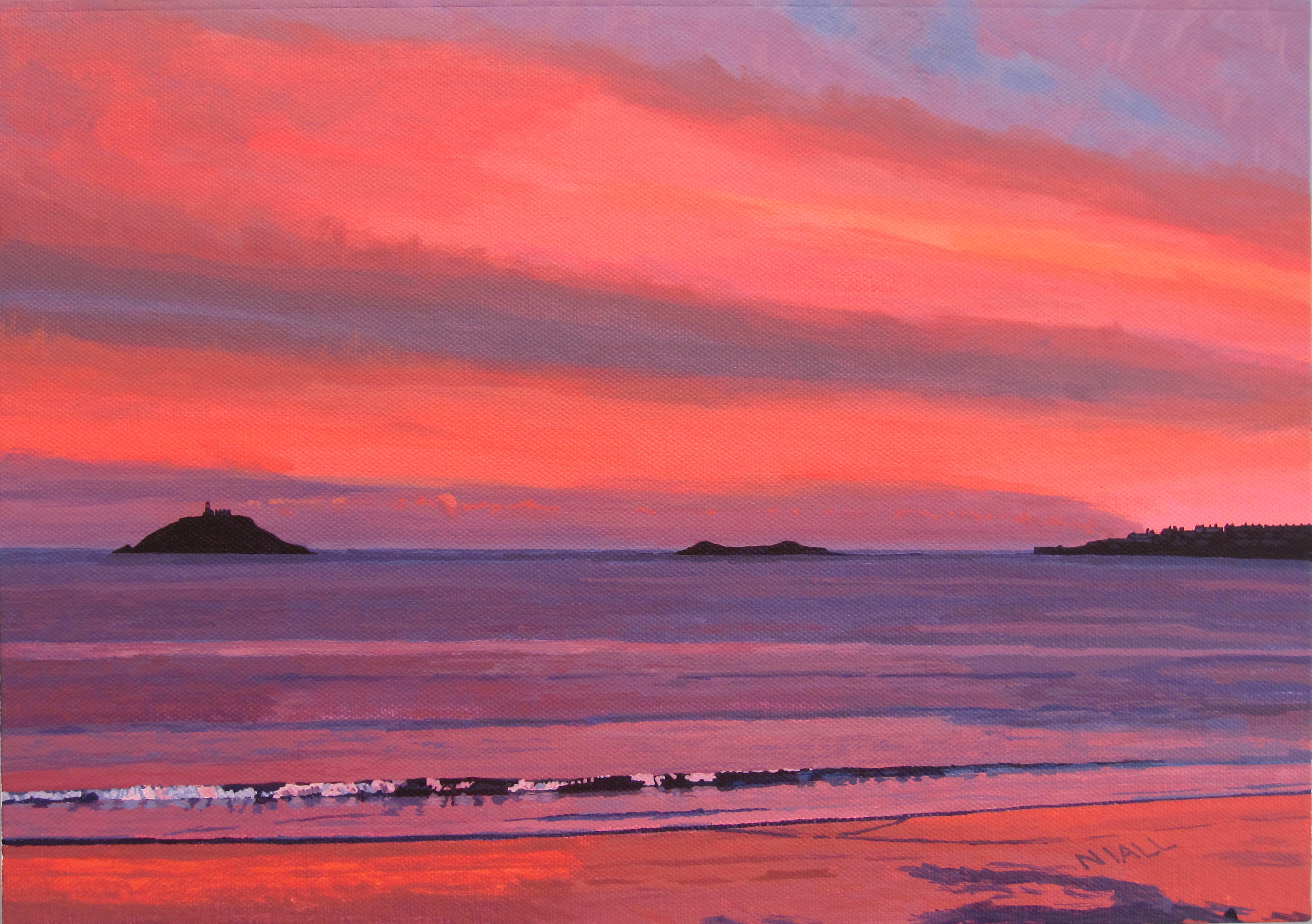 View of Ballycotton at Sunset