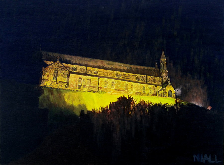 Ballycotton Church in the Rain