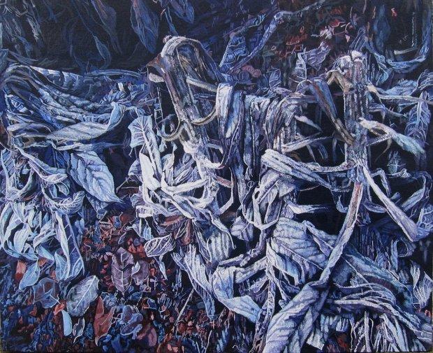 Frosty Dead Plants