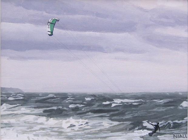 Kite Surfer in Garryvoe, November 2010
