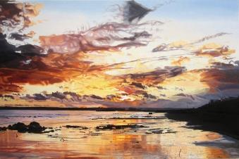 Midwinter Sunset over Garryvoe Beach