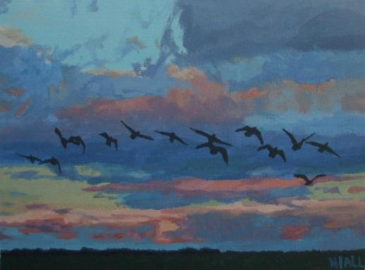 Wild Geese in Flight