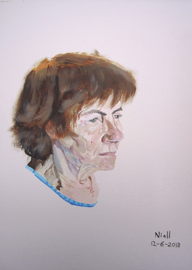 Four hour painting of Mam
