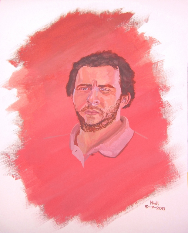 A Self-Portrait In Red