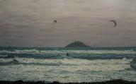 Two Kite-Surfers In Garryvoe watermark