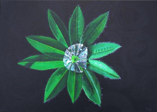 Rain water on a lupin leaf twitpic
