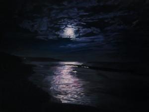 Full Moon over Knockadoon from Garryvoe