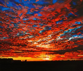 Dappled Sunset over Garryvoe