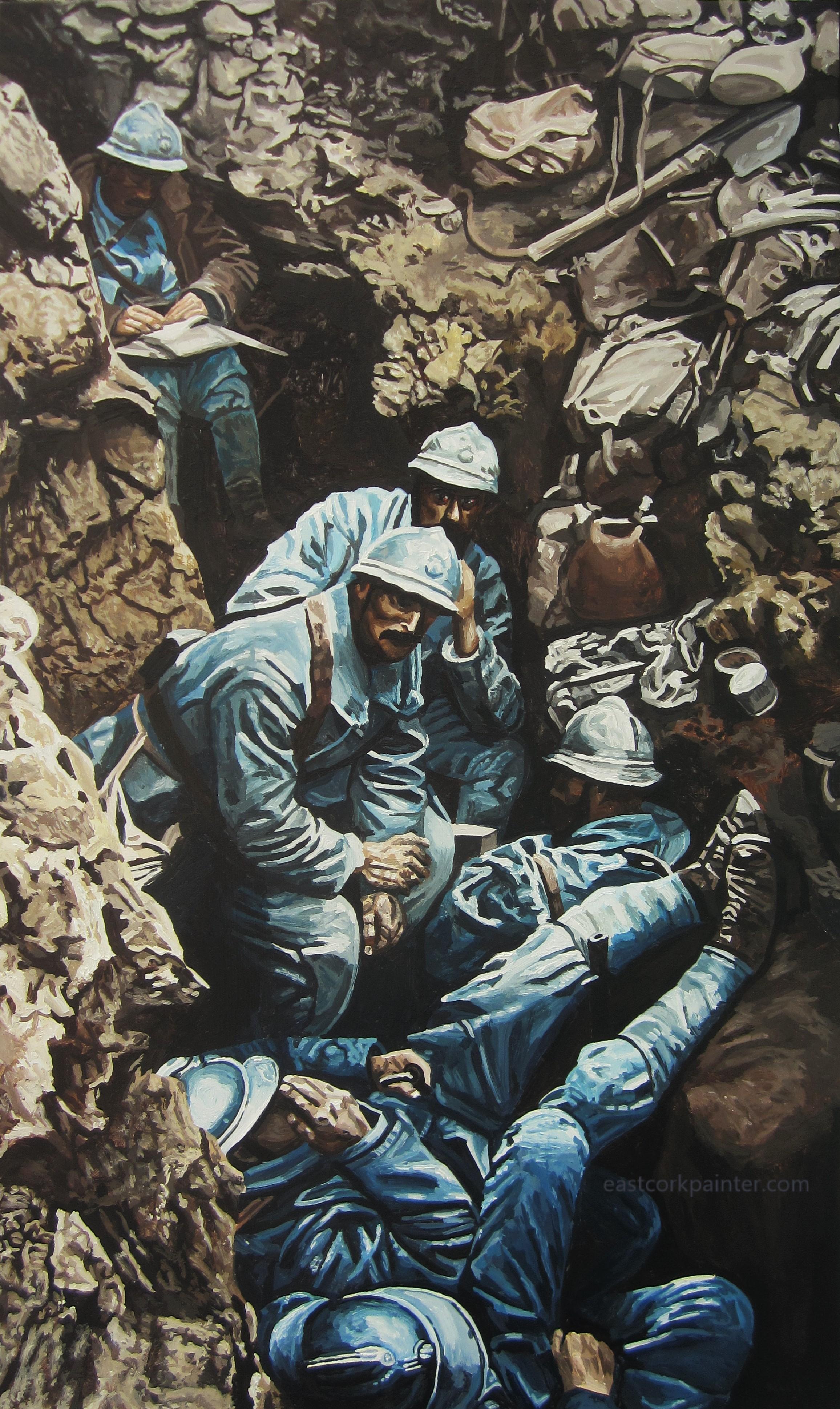 French Soldiers Near Verdun 1916 watermark