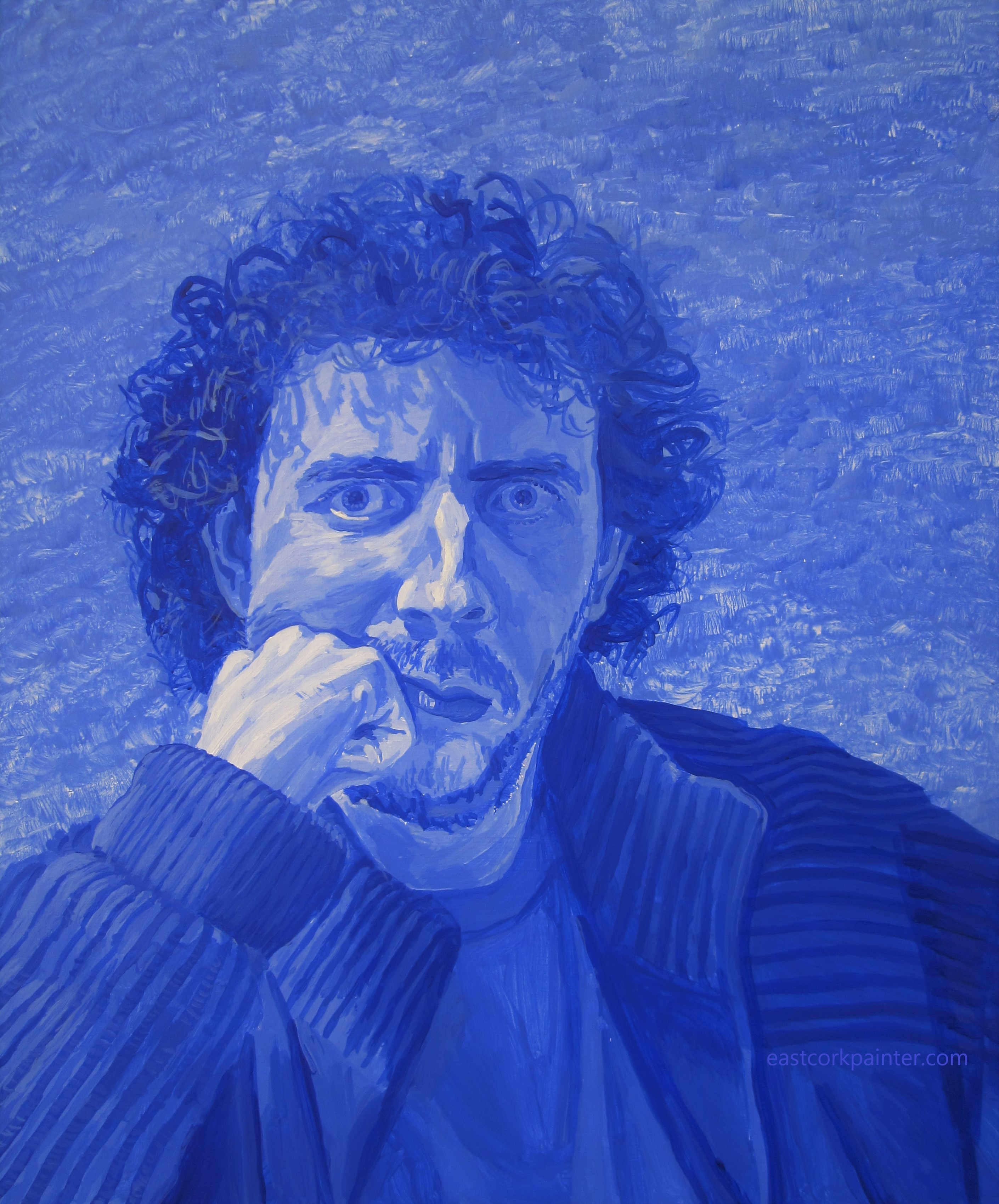 Self-Portrait In Blue, March 2016 watermark