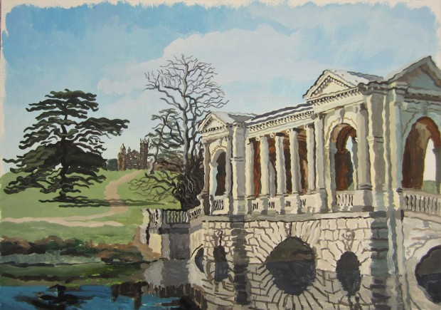 Palladian Bridge, Stowe House Gardens watermark