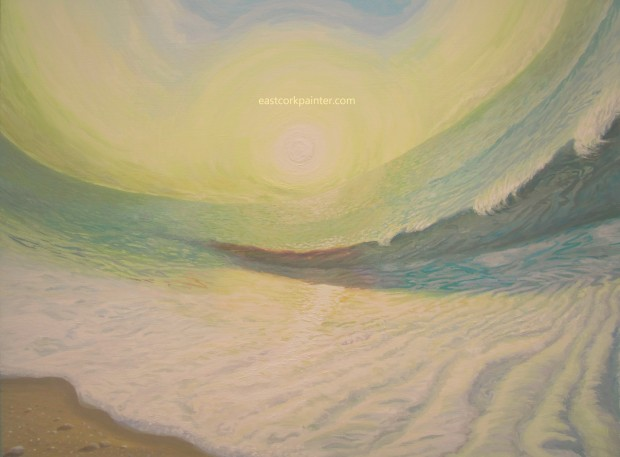 Warped Sunrise Seascape watermark