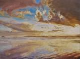 Swirling Winter Sky's Reflections on Garryvoe Beach watermark