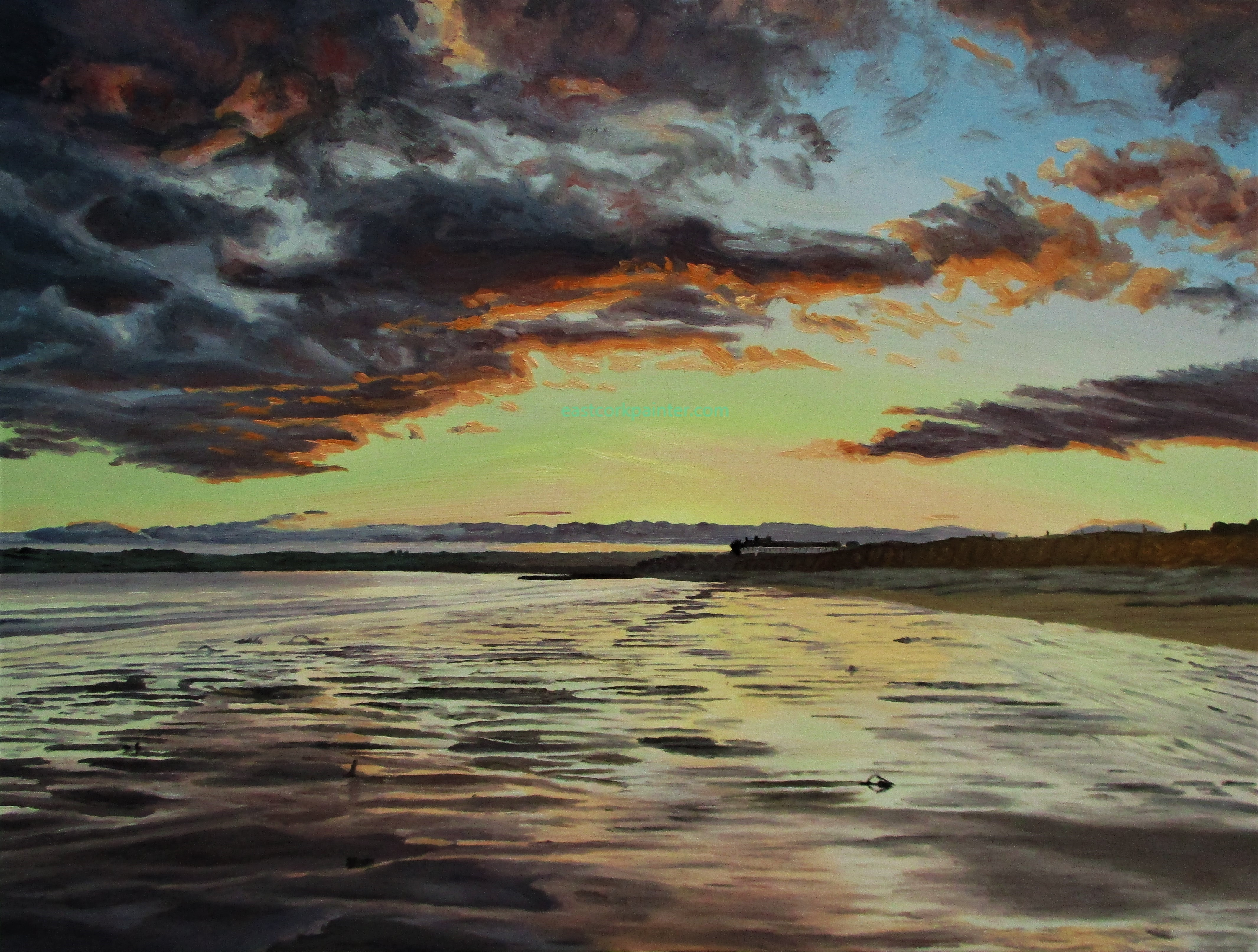 Evening Sky Over Garryvoe Beach