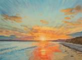 Orange Sunset Over Garryvoe Beach watermark