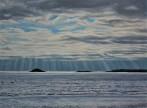 Sunbeams and Shadows Over Ballycotton Bay watermark