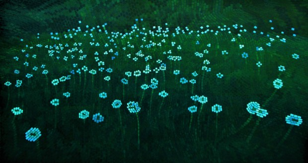 Dandelion Seed Heads At Dusk