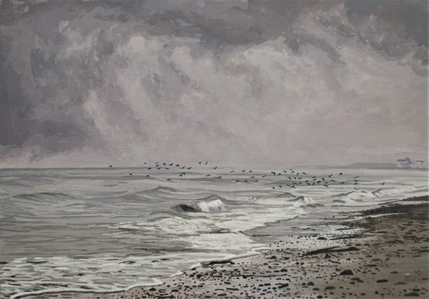A Flock Of Seabirds watermark
