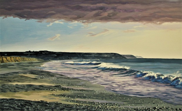 March Morning On Garryvoe Beach Watermark